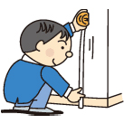 リフォーム工事箇所の寸法測定