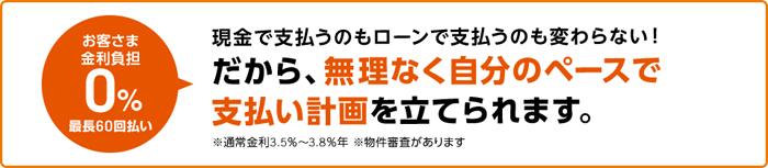 金利0円で無理のない資金計画