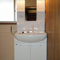 山梨市 リフォーム交換後の洗面台