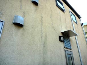 塗装した樹脂系塗り壁