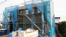甲府市 塗り壁のお家 外壁工事