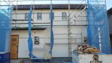 笛吹市 塗り壁のお家 外装工事 塗り壁仕上げ