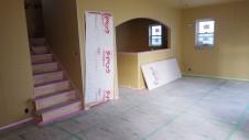 笛吹市 パイン無垢材のお家 内装工事 リビング