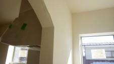 富士吉田 薪ストーブのお家 内装塗り壁工事