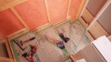 笛吹市 塗り壁のお家 内装工事 階段
