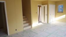 笛吹市 塗り壁のお家 内装工事 リビング-1