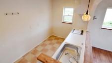 甲府市 漆喰の塗り壁の家 キッチン