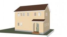 甲斐市 塗り壁の家 完成予想図
