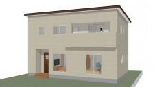 甲斐市 自然素材のナチュラルモダンの家 完成予想図
