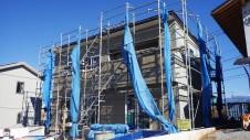 甲斐市 自然素材のナチュラルモダンの家 外装工事