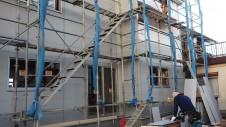 昭和町 サイディングのお家 サイディング貼り工事
