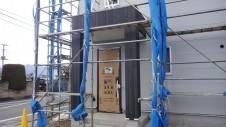 昭和町 サイディングのお家 玄関ポーチ工事