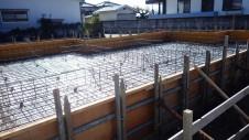 昭和町 サイディングのお家 基礎工事1