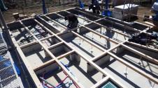 山梨市 塗り壁とエイジング加工のかわいい家 土台敷き工事3