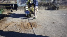 山梨市 塗り壁とエイジング加工のかわいい家 地盤調査1