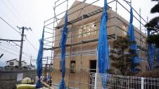 山梨市 塗り壁とエイジング加工のかわいい家 上棟10