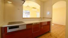 甲斐市 落ち着いた雰囲気の漆喰塗り壁のお家 キッチン