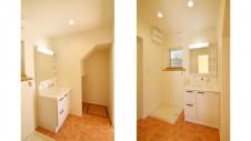 笛吹市 塗り壁のかわいい家 洗面