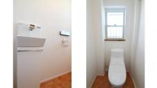 笛吹市 塗り壁のかわいい家 トイレ