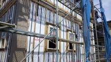 山梨市 塗り壁とエイジング加工のかわいい家 外装工事1