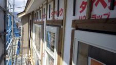 山梨市 塗り壁とエイジング加工のかわいい家 外装工事2