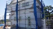 山梨市 塗り壁とエイジング加工のかわいい家 エイジング外装工事6