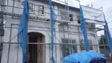 山梨市 塗り壁とエイジング加工のかわいい家 エイジング外装工事7