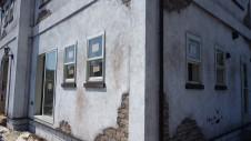 山梨市 塗り壁とエイジング加工のかわいい家 エイジング外装工事8