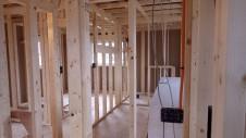 山梨市 塗り壁とエイジング加工のかわいい家 内装工事2
