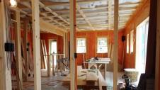 山梨市 塗り壁とエイジング加工のかわいい家 内装工事4