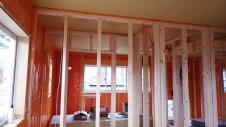 山梨市 塗り壁とエイジング加工のかわいい家 内装工事6