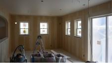 山梨市 塗り壁とエイジング加工のかわいい家 内装工事9