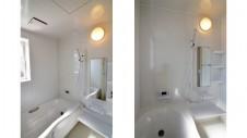 山梨市 塗り壁とエイジング加工のかわいい家 バスルーム
