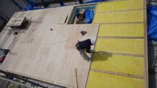 甲府市 漆喰塗り壁のかわいいお家 土台敷き工事4