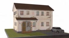 笛吹市 エイジング加工のお家 完成予想図1