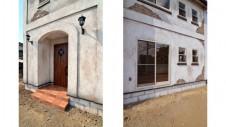 山梨市 塗り壁とエイジング加工のかわいい家 外観4