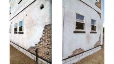山梨市 塗り壁とエイジング加工のかわいい家 外観5