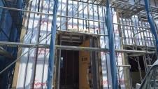 甲府市 漆喰塗り壁のかわいいお家 外装工事2