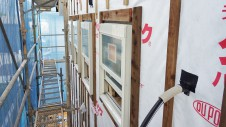 笛吹市石和町 エイジング加工のキュートな家 外装工事2