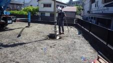 甲府市 エイジング加工のお家 地盤改良1