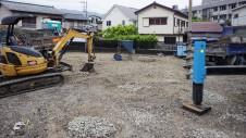 甲府市 エイジング加工のお家 地盤改良3