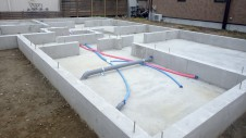 笛吹市石和町 エイジング加工のキュートなお家 基礎工事9