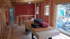 甲府市 漆喰塗り壁のかわいいお家 内装工事1