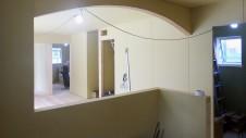甲府市 漆喰塗り壁のかわいいお家 内装工事8