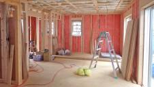 笛吹市石和町 エイジング加工のキュートな家 内装工事5