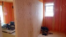 甲府市 漆喰塗り壁のかわいいお家 内装工事4