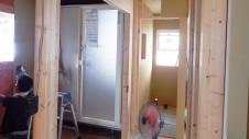 笛吹市石和町 エイジング加工のキュートな家 内装工事8