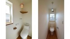 山梨市 塗り壁とエイジング加工のかわいい家 トイレ