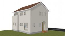 中央市浅利に建つ自然素材の漆喰外壁のお家