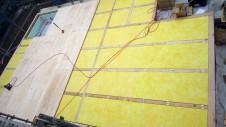 中央市浅利 自然素材の漆喰外壁のお家 土台敷き工事1